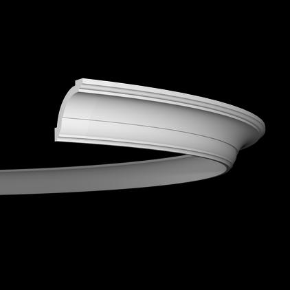 Карниз потолочный гибкий под покраску Evroplast 1.50.101 гибкий