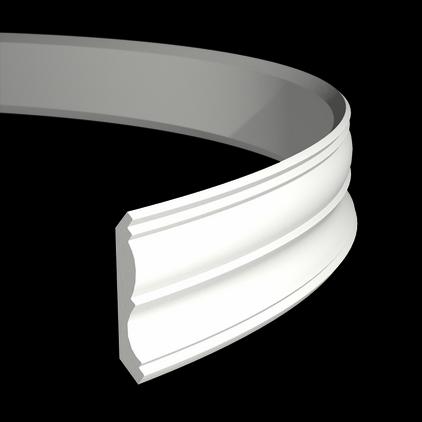 Карниз потолочный гибкий под покраску Evroplast 1.50.161 гибкий