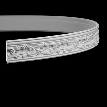 Карниз потолочный гибкий под покраску Evroplast 1.50.189 гибкий
