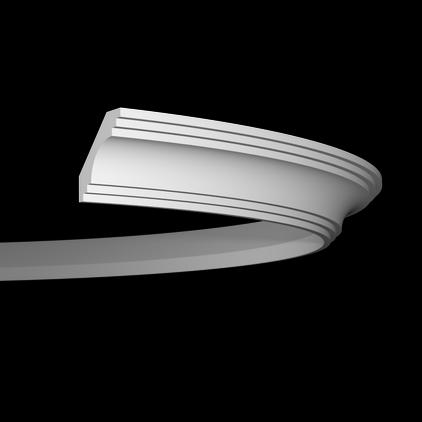 Карниз потолочный гибкий под покраску Evroplast 1.50.199 гибкий