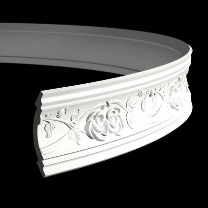 Карниз потолочный гибкий под покраску Evroplast 1.50.205 гибкий