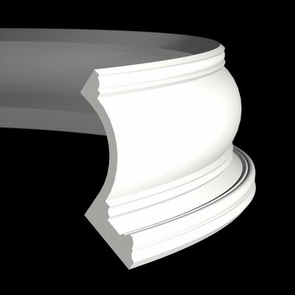 Карниз под покраску гибкий Evroplast 1.50.209 гибкий