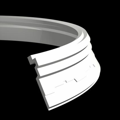 Карниз потолочный гибкий под покраску Evroplast 1.50.267 гибкий