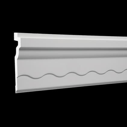 Карниз потолочный под покраску Evroplast 1.50.268