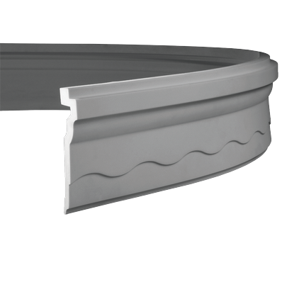 Карниз потолочный гибкий под покраску Evroplast 1.50.268 гибкий