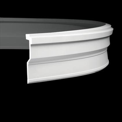 Карниз потолочный гибкий под покраску Evroplast 1.50.269 гибкий