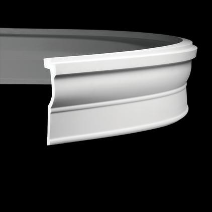 Карниз потолочный гибкий под покраску Evroplast 1.50.270 гибкий