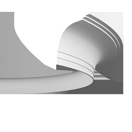 Карниз потолочный гибкий под покраску Evroplast 1.50.271 гибкий