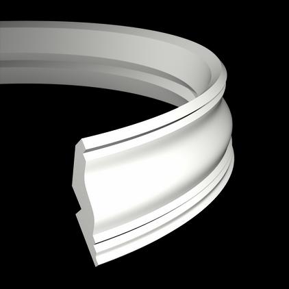Карниз потолочный гибкий под покраску Evroplast 1.50.273 гибкий