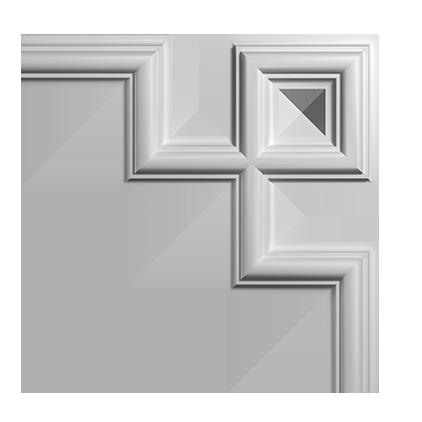Угловой элемент под покраску Evroplast 1.52.287