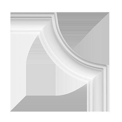 Угловой элемент под покраску Evroplast 1.52.322
