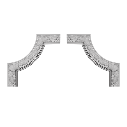 Угловой элемент под покраску Evroplast 1.52.348