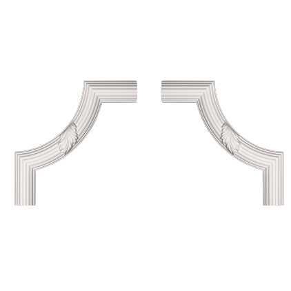Угловой элемент под покраску Evroplast 1.52.361