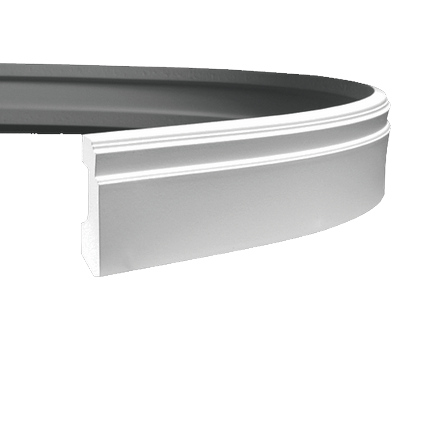 Плинтус напольный гибкий под покраску Evroplast 1.53.101 гибкий