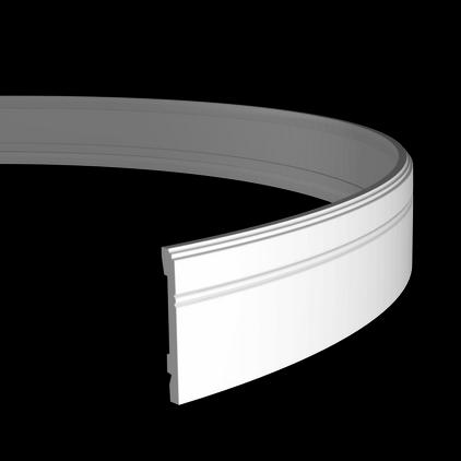 Плинтус напольный гибкий под покраску Evroplast 1.53.103 гибкий