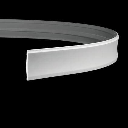 Плинтус напольный гибкий под покраску Evroplast 1.53.104 гибкий