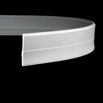 Плинтус напольный гибкий под покраску Evroplast 1.53.105 гибкий