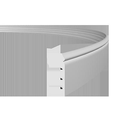 Плинтус напольный гибкий под покраску Evroplast 1.53.110 гибкий