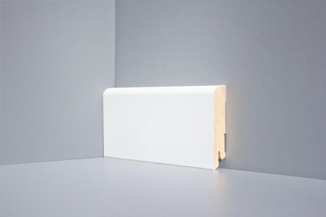 Плинтус МДФ напольный белый Perfect W02-80