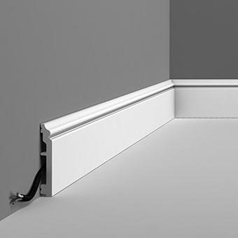 Плинтус дюрополимер под покраску Orac decor SX173 клей в подарок