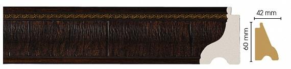 Плинтус напольный (Тёмный шоколад) Decomaster 175-1