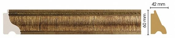 Плинтус напольный с орнаментом (Орех) Decomaster 175-3