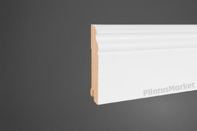 Плинтус МДФ напольный белый Pedross 5535 клипсы в подарок