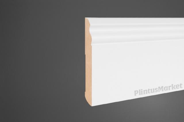 Плинтус МДФ высокий белый Pedross 5911 клей в подарок
