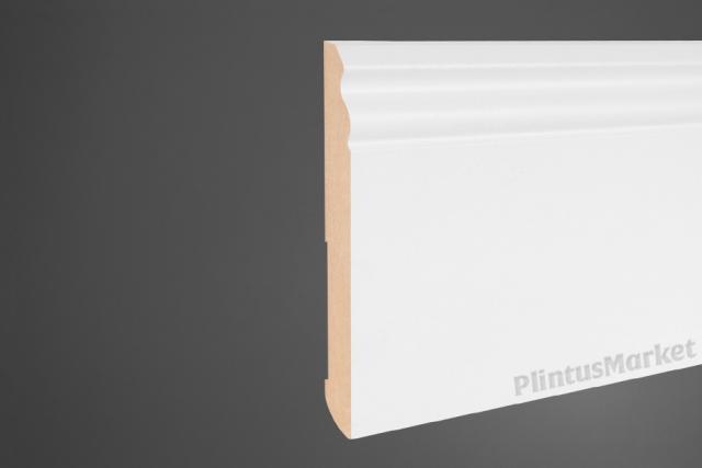 Плинтус МДФ высокий белый Pedross 6203 клей в подарок