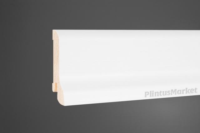 Плинтус сосна широкий белый Perfect 6022