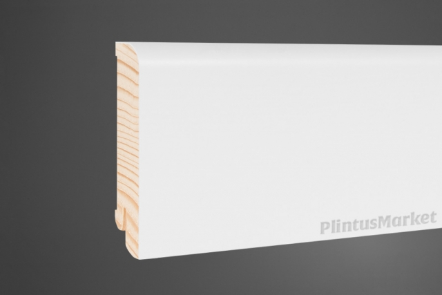 Плинтус сосна широкий белый Pedross 8018. клипсы в подарок