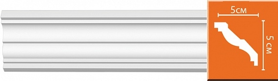 Карниз гладкий под покраску Decomaster 96117F