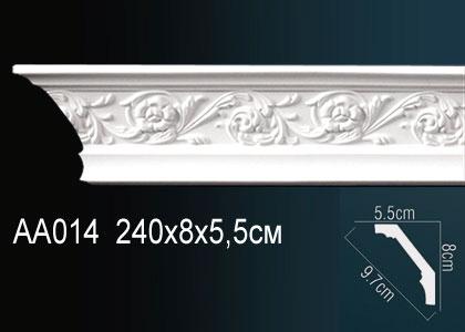 Карниз с орнаментом  Perfect AA014F клей в подарок