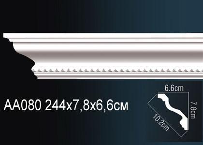 Карниз потолочный под подсветку Perfect AA080 скидки от объема