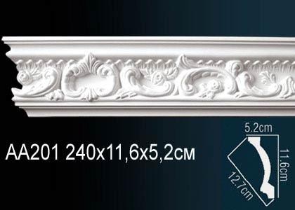 Карниз с орнаментом Perfect AA201 клей в подарок