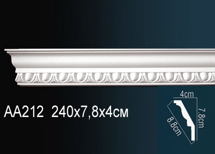 Карниз с орнаментом Perfect AA212F клей в подарок