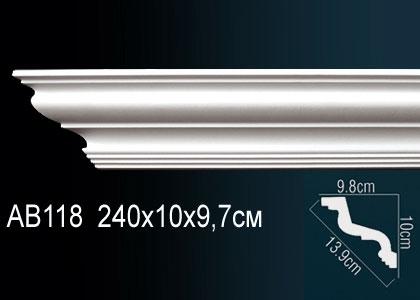 Карниз потолочный под подсветку Perfect AB118 клей в подарок