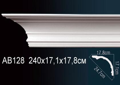 Карниз гладкий под покраску Perfect AB128 клей в подарок