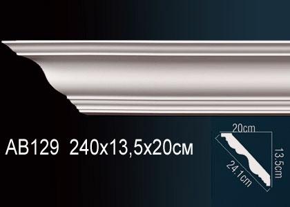 Карниз гладкий под покраску Perfect AB129 клей в подарок