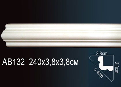 Карниз гладкий под покраску Perfect AB132 клей в подарок