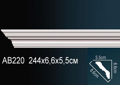 Карниз гладкий под покраску Perfect AB220 клей в подарок