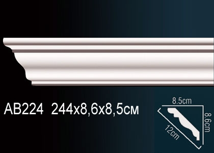Карниз гладкий под покраску Perfect AB224 клей в подарок