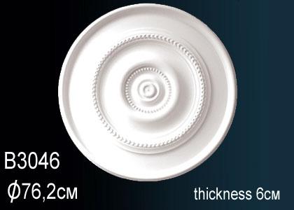 Розетка под покраску Perfect B3046