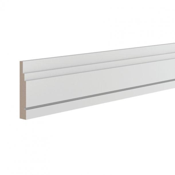 Плинтус ЛДФ широкий напольный Ultrawood 0006 клей в подарок
