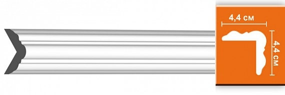 Молдинг гладкий под покраску Decomaster DP333F