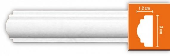 Молдинг гладкий под покраску Decomaster DP8032F