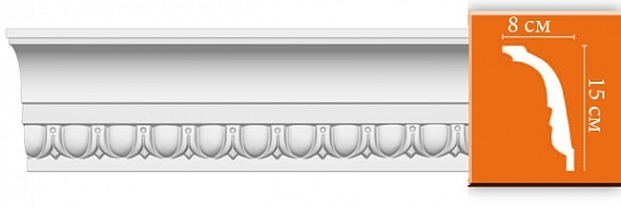 Карниз с орнаментом под покраску Decomaster DT168