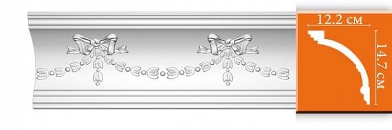 Карниз с орнаментом под покраску Decomaster DT218