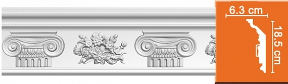 Карниз с орнаментом под покраску Decomaster DT9830