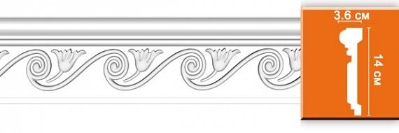 Молдинг с орнаментом под покраску Decomaster DT9868